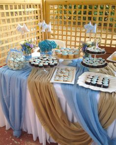 Nautical Baptism, Baby Boy Baptism, Baptism Party, Christening Themes, Baby Christening, Baptism Decorations, Baby Shower Decorations, Candy Table, Candy Buffet