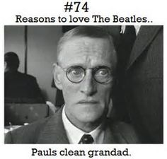 He's Very Clean. (I Love That In The Beatles Movie A Hard Days Night)