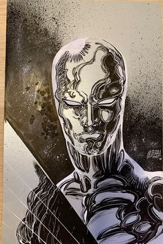 Silver Surfer by Franck Uzan Marvel Comics Art, Marvel Comic Books, Marvel Vs, Comic Book Heroes, Marvel Characters, Anime Comics, Captain Marvel, Silver Surfer, Deadpool Funny