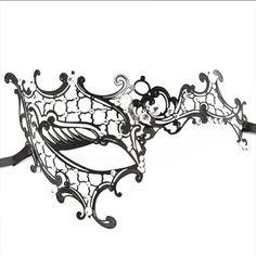 Phantom of the Opera Inspired Lady Venetian Halloween Masquerade Party Laser Cut Mask Masquerade Halloween, Black Masquerade Mask, Venetian Masquerade Masks, Masquerade Party, Masquerade Mask Makeup, Halloween Party, Halloween Face, Masquerade Mask Template, Phantom Mask