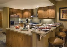 Gourmet Kitchen - Lake Tahoe - Mountain Living Iron Horse Lodge