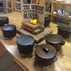 """""""Happy family of #castiron #Dutchovens by #outlawschmitz for #workshopresidence available online workshopresidence.com and just got a nice review by…"""""""