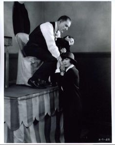 """Lon Chaney,Sr. with co-star Mae Busch in """"The Unholy Three"""" 1925 version.            See more at: https://www.facebook.com/LonChaneySrManOf1000FacesOf1000Faces"""