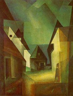 The School of Bauhaus/ Lyonel Feininger's painting 'Gaberndorf II', 1924 (Lyonel Feininger. Bushaus Master, 1919–1932)