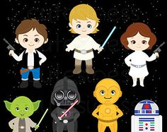 Star Kids Clipart / Star Wars by ClipArtisan on Etsy