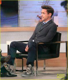 Robert on Good Morning America.Love the Shoes and of course Robert Robert Downey Jr., I Robert, Super Secret, Iron Man Tony Stark, Downey Junior, Good Morning America, In Hollywood, Actors & Actresses, Beautiful Men