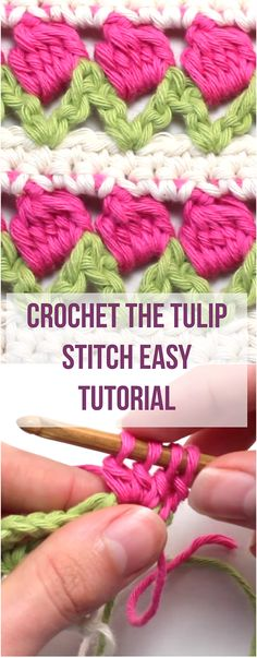 If you want to WATCH an easy and free tutorial to learn how to crochet the tulip stitch, then you definitely want to see this article! |Stitch Tutorial For Beginners | Crochet For Beginners | Crochet Tutorial For Beginners | Free Video DIY | Free Video Tutorial Crochet |