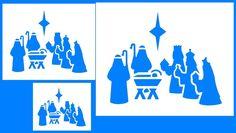 Nativity 3 STENCIL  ( 3 Sizes REUSABLE)