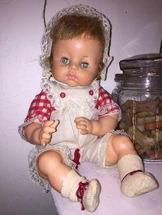 "Horsman C316 sleep eyes baby doll rooted hair cloth body  18""  | eBay"