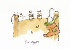gold diggers  by Anita Jeram