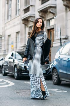 London Fashion Week Showgoers Will Inspire You to Layer a Dress Over Anything   Fashionista