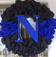 Thin Blue Line Wreath by The94MadHatter on Etsy