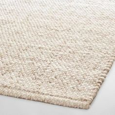 Ivory Tonal Sweater Wool Emilie Area Rug | World Market