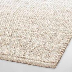 Ivory Tonal Sweater Wool Emilie Area Rug | World Market