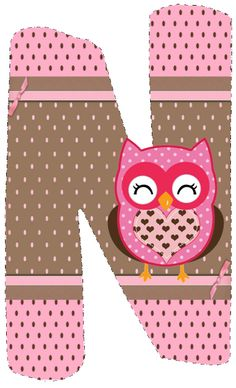 CH.B *✿* De Katia Artes Moldes Para Baby Shower, Alphabet Letters Design, Owl Wallpaper, Owl Classroom, Minnie Png, Letter N, Class Decoration, Borders And Frames, Art Wall Kids