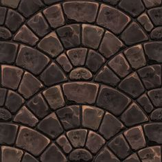 Handpainted stone pavement texture