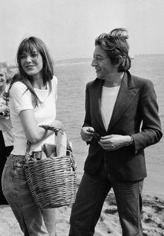 Love & picknick; Jane Birkin et Serge Gainsbourg