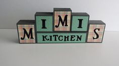 Wood Block Sign  Mimis Kitchen  Light by ForeverYoursCreation #mimi