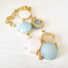 Blush Champagne Rose and Teal Green Gold Colored by JewelsofJane