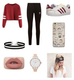 """Untitled #33"" by tessilac ❤ liked on Polyvore featuring adidas Originals, Miss Selfridge and Olivia Burton"