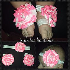 Shabby headband and sandals