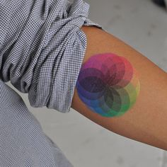 Color Burst temporary tattoo from Tattly    worth to have yah