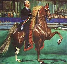 Commander in Chief and Red Crabtree. painting by Helen Hayse