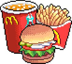 low cost healthy recipes for two people kids pictures Pixel Art Food, How To Pixel Art, Anime Pixel Art, Oblyvian Girls, Overlays, Tumblr Png, Pix Art, 8 Bits, Pixel Games