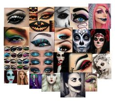 """""""eye makeup for halloween...on fleek or nahhhhhhhh"""" by bish-please-im-queen20000011111 ❤ liked on Polyvore"""