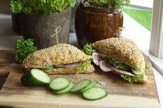 Sunde sandwichbrød | Brød og boller | Forstadsmor Salmon Burgers, Sandwiches, Recipies, Flutes, Ethnic Recipes, Food, Spinach, Recipes, Flute