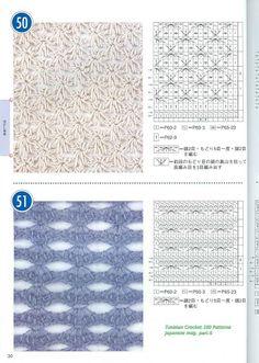 Tunisian Crochet 100 - 婷妈1 - Picasa Webalbums. Better scans of the book.