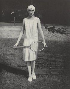 Art Deco: '20s tennis player Edward Steichen, Mode Vintage, Vintage Vogue, Vintage Ladies, Vintage Fashion, Tennis Fashion, 20s Fashion, Fashion History, Fashion Outfits
