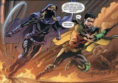 Tim Drake (Red Robin) & Stephanie Brown (Spoiler) in Detective Comics # 938