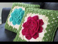 Crochet Cushion Cover, Crochet Cushions, Crochet Pillow, Crochet Home, Free Crochet, Knit Crochet, Crochet Seed Stitch, Diy Pillows, Throw Pillows