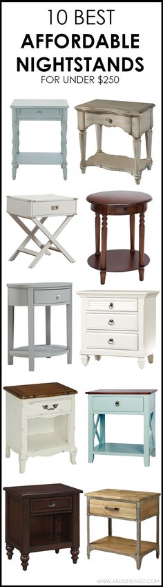 We've got 10 of the best affordable nightstands for you to choose from! If you are looking for the perfect nightstand for your bedroom or even a small side table, we have you covered on ablissfulnest.com