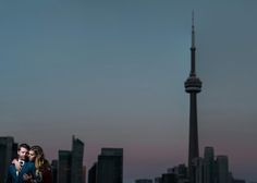 A stunning engagement session with Lisa Mark Photography on Thompson Toronto's rooftop.