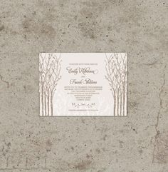 Printable Wedding Invitation  Cottage Grove  Hand by WillowandSass, $20.00