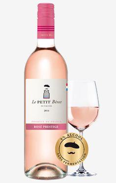 vin rosé sans alcool le petit beret