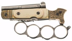 z- Namure- Percussion Knuckleduster-Knife-Pistol, 19th C, I