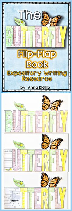 This Interactive Butterfly Flip-Flap Resource will be a great addition to your Butterfly Unit.  Expository Writing, Life Cycle, Compare/Contrast, Labeling a Diagram and more!$