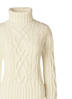Women's Drifter Cable Turtleneck Sweater from Lands' End