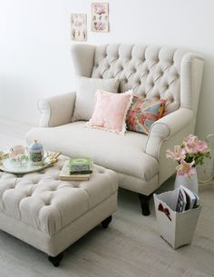Big comfy chair with matching ottoman