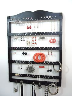 Hey, I found this really awesome Etsy listing at https://www.etsy.com/listing/165904108/jewelry-holder-earring-organizer-19-x-14