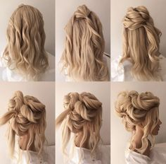 Blonde Bride, Bridal Hair, Dreadlocks, Hair Styles, Beauty, Hair Plait Styles, Hair Makeup, Hairdos, Haircut Styles