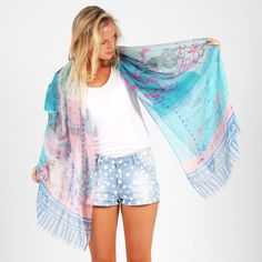 Blue Circus Scarf – Blue & Pink from Trans-Season Scarves - R249 (Save 0%)