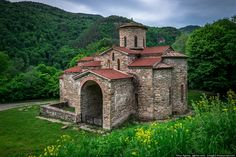 Christian churches of Alan-Byzantine culture built back in the IX-X centuries in Karachay-Cherkessia, Russian Federation.