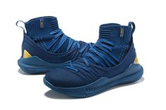 374206ab357780 Wholesale Stephen Curry 5 Basketball Shoes Blue Gold on  www.soldier12shoe.com