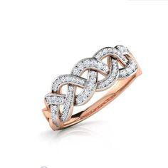 Natural Round Diamond Twisted Eternity Band 14K Rose Gold Twisted Wedding Ring  | eBay