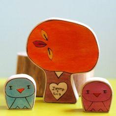 Wedding Cake Topper Birds and Fall Sweetheart Tree by urastarhouse