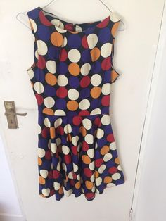 Polka dot A line dress with blue, red, cream and mustard dots. Very flattering Has belt loops and a long visible zip down the back Dublin City, Dot Dress, Mustard, Centre, Polka Dots, Size 10, Ads, Belt, Colour